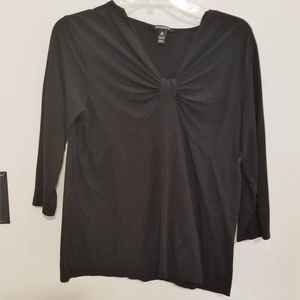 Black Half Sleeve Blouse by George Size Large.